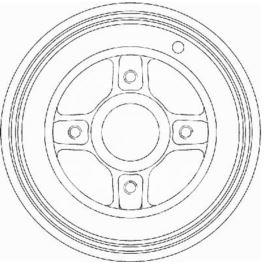 bęben hamulcowy Renault CLIO II/ MEGANE +ABS  - zamiennik włoski OMC
