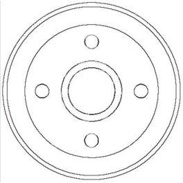 bęben hamulcowy Citroen XSARA/ Citroen ZX  - zamiennik włoski OMC