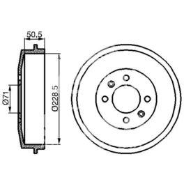 bęben hamulcowy Citroen C15D/ BERLINGO/ Citroen ZX KOMBI  - zamiennik włoski OMC