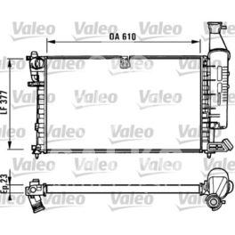 chłodnica Citroen BERLINGO 1,4/1,8 +/-AC  - francuski oryginał Valeo
