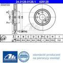 tarcza hamulcowa Citroen C5/ Xantia przód wentylowane 288/4 - niemiecki oryginał ATE