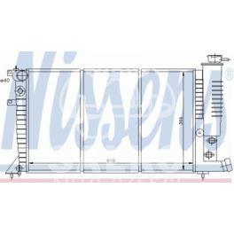 chłodnica Citroen ZX 1,9D/TD -09.93 AC - zamiennik duński NISSENS