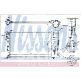 chłodnica Citroen ZX/P306 1,8D/1,9D 93-97 +/-AC - zamiennik duński NISSENS