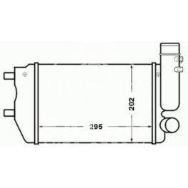 intercooler Citroen JUMPER 1,9TD/2,5TD - zamiennik duński NISSENS