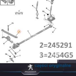 cięgno biegów Peugeot 206 320/9+12 MA (oryginał Peugeot)