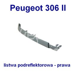 listwa podreflektorowa Peugeot 306 1997- prawa (oryginał Peugeot)