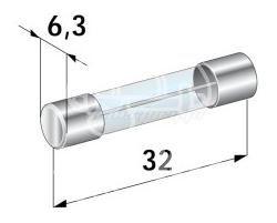 bezpiecznik szklany 30A 32x6,3 (oryginał Citroen)