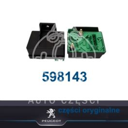 przekaźnik świec żarowych Citroen, Peugeot 1,9D/2,0HDi 98- 5styk /1-pusty (oryginał Peugeot)