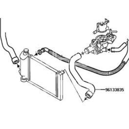 przewód chłodnicy Citroen C15D górny 05651- (oryginał Citroen)