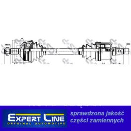 półoś Citroen EVASIONION 1,9TD ME5 lewy ABS.48z nowa - zamiennik typu brand Expert Line