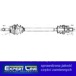 półoś Renault LAGUNA 1,8/2,0 CR23 prawa - zamiennik typu brand Expert Line