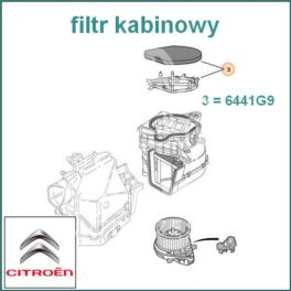 filtr kabinowy SAXO/ Peugeot 106 I/II (oryginał Citroen)
