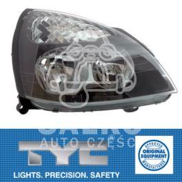 reflektor Renault CLIO II od 2001 na H7+H1 prawy elektryczne - nowy zamiennik TYC