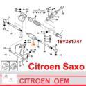 drążek kierowniczy Citroen AX/ SAXO/ Peugeot 106 środkowy - nowy oryginał Citroen