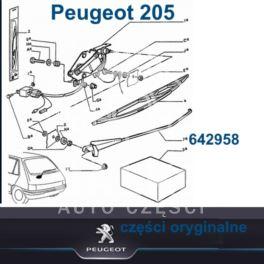 ramię wycieraczki Peugeot 205 tył (oryginał Peugeot)