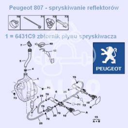 zbiornik spryskiwacza Citroen C8/ Peugeot 807 (oryginał Peugeot)