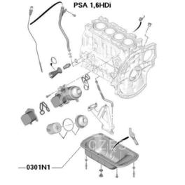 misa oleju Citroen, Peugeot 1,4HDi/1,6HDi stalowa (oryginał Peugeot)