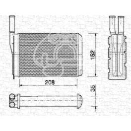 nagrzewnica - wkład TWINGO z aluminium - zamiennik Magneti Marelli