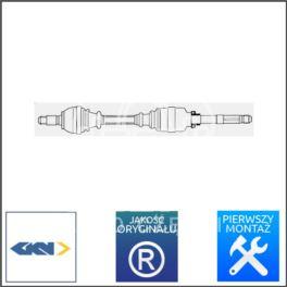 półoś Renault ESPACE IV 1,9dCi/2,0 PK6 prawa GKN - niemiecka regeneracja GKN - LOBRO