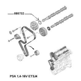 uszczelniacz silnika 36x50x8    WRR PSA ADM (oryginał Peugeot)
