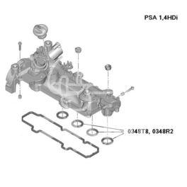 uszczelka kolektora ssącego Citroen, Peugeot 1,4HDi DV4TD (x4) oring KPL (oryginał Peugeot)