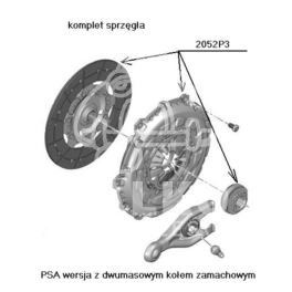 sprzęgło Citroen, Peugeot 2,0 HDi ML6C 240mm OPR- (oryginał Peugeot)