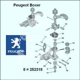 tulejka wybieraka s.b.C/P ML - łożysko (oryginał Peugeot)
