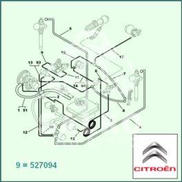 przewód LHM Citroen XANTIA korektor prz/z.antyopad 925 (oryginał Citroen)
