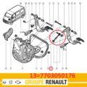oś montażu sprężyny do pedału sprzęgła MASTER II kpl - oryginał Renault