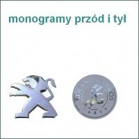 monogramy przód i tył