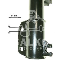 amortyzator LAGUNA I przód (14mm) - zamiennik francuski RECORD