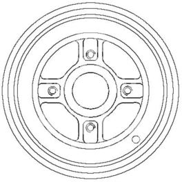 bęben hamulcowy KANGOO 1,2-1,9D (203) - zamiennik włoski OMC