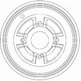 bęben hamulcowy LAGUNA (203) 4śr - zamiennik włoski OMC