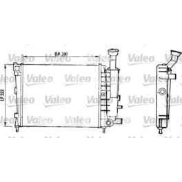 chłodnica Citroen AX 1,4D -1992 - francuski oryginał Valeo
