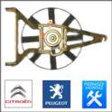 wentylator chłodnicy AX/106 1,0/1,1 W+T+S (oryginał Peugeot)