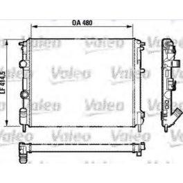 chłodnica Renault CLIO II 1,9D ch.000502- - francuski oryginał Valeo