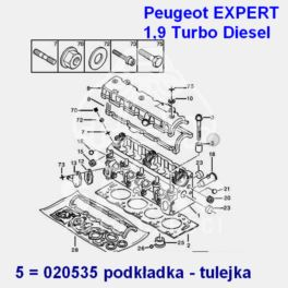podkładka śruby głowicy Citroen/ Peugeot Diesel 1,9TD XUD9TE - nowy oryginał Peugeot