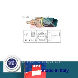 czujnik temperatury wody Citroen, Peugeot 1,9D/2,0HDi 98- M12x1,5/2-styk - zamiennik włoski EPS