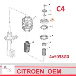 poduszka amortyzatora Citroen C4/ Peugeot 307 L/P przód (oryginał Citroen)