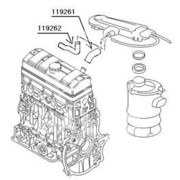 przewód olejowy Citroen, Peugeot 1,0-1,4 TU monowtrysk/gaźnik (oryginał Peugeot)