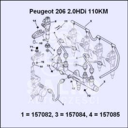 przewód paliwa Citroen, Peugeot 2,0HDi (2/4) -OPR08420 (oryginał Peugeot)