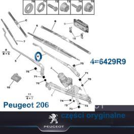 ramię wycieraczki Peugeot 206 lewy przód (oryginał Peugeot)
