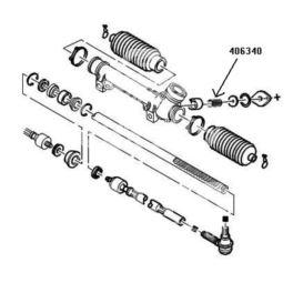 reperaturka przekładni kierowniczej P205... (sprężyna ślizgu) (oryginał Peugeot)