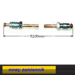 przewód hamulcowy metalowy 5200mm M10/M12 - nowy zamiennik