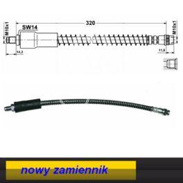 przewód hamulcowy elastyczny CLIO II przód 346mm - zamiennik polski WBH