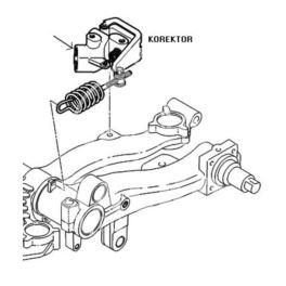 korektor siły hamowania Peugeot 206 BOSCH +/-ABS (oryginał Peugeot)