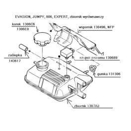 zbiornik wyrównawczy JUMPY/EXPERT 1,9D/TD XUD (oryginał Peugeot)
