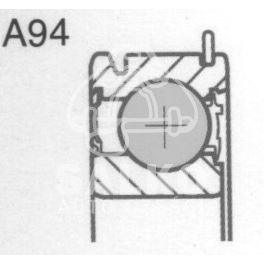 łożysko skrzyni biegów Citroen, Peugeot MA wałek atak.tył 91- (oryginał Peugeot)
