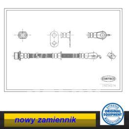 przewód hamulcowy elastyczny Citroen C1/ Peugeot 107 lewy przód - zamiennik włoski Corteco