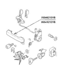klamka zewnętrzna Citroen C15 przód lewa 05652-